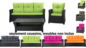 Coussins pour salon de jardin, coussins de chaise extérieur,balançoire, canapé