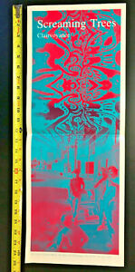 SCREAMING TREES 1986 Clairvoyance PROMO Poster First Album - FANTASTIC CONDITION