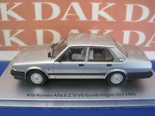 1/43 Modellino Auto Alfa Romeo Alfa 6 2.5i V6 Quad. Oro 1983 Silver by Kess