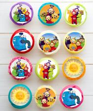 #610. Teletubbies circle EDIBLE wafer cupcake cake toppers