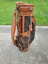 Vintage Daiwa Coach Collection Golf Cart Bag Brown Leather & Cover