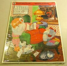 Letters to Santa Christmas Frame Tray Puzzle 75900-2 Vintage 1973 Rainbow Works