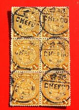 6/8/1910 ,china coiled dragon  stamp Place name [烟台 ] used 6