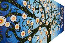 150cm x 50cm  ART PAINTING PRINT TREE OF LIFE ABORIGINAL blue