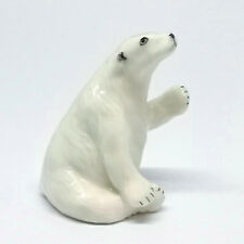 Ceramic Figurine Polar Bear Miniature Home Decor Collectibles Animals Theme