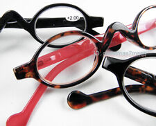 Men Women Reading glasses Retro Vintage mini round Plastic 38-34-150 w pouch New