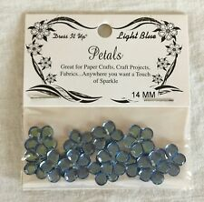 NEW Jesse James Co. Dress It Up Petals 14 mm Flowers - Light Blue - 12 Pieces