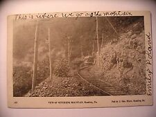 Trolley Car on Tracks on Neversink Mountain in Reading PA 1904