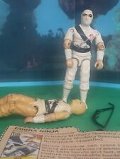 LOT 2 GI JOE Storm Shadow (v1) 1984 action figures w/ bow accessory & Fact card