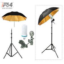 """Studio Lighting Kit Light Stand+110v 150w Bulb+33""""Umbrella+Swivel Adapter Holder"""