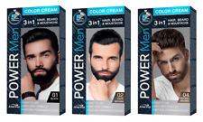 JOANNA POWER Men COLOR CREAM 3 in 1 HAIR, BEARD, MOUSTACHE