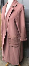Topshop Ladies Size 10 Pink Oversized Jacket Coat