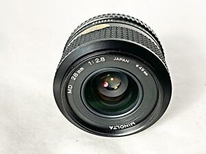 Minolta 28mm F2.8 MD mount wide angle prime lens - Crystal Clear Glass