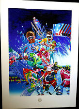 Hiro Yamagata, Winter Olympic Games, Limited Edition Serigraph Signed & Numbered