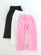"3 Leggings Pink White Black Fits American Girl 14.5"" Wellie Wisher Doll Clothes"