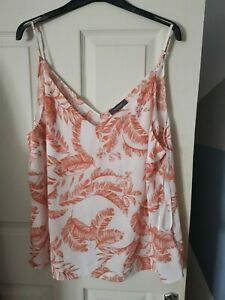 NEW Ladies Size 20 Summer Cami Strappy Top Blouse T Shirt Floral Hawaiian Print