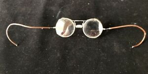 VINTAGE SAFETY GLASSES-STEAMPUNK-MESH SIDE PROTECT WITH CLEAR LENS AO Pat 1917
