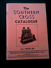 THE SOUTHERN CROSS CATALOGUE BOOK 1939-40 WINDMILL AUSTRALIA