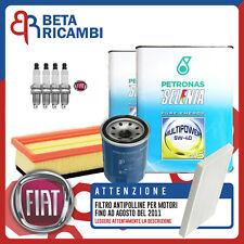 Kit Tagliando Fiat Panda Natural Power 1.2 Gpl +4 LT olio Selenia + 4 Candele