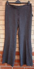 NINE WEST GREY FLARE TAILORED FORMAL WORK CROP TROUSERS PANTS 12 14