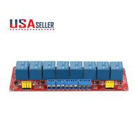 8 Channel 5V 12V Relay Module Board Optocoupler Shield High Low Level Trigger