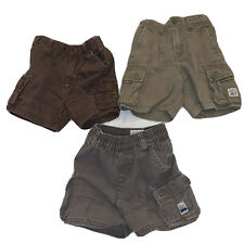 Lot Of 3 Baby Kids Toddler Boys Cargo Shorts Sz 18 Months