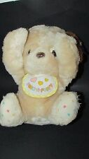 Vintage 1984 Emotions Mattel plush Peek a Puppy heart feet bib nose flaw Morgan