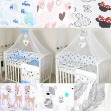 Babybettwäsche für Baby Bett 120x60 Kinderbett Himmel Nestchen Decke 90x120