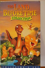 The Land Before Time Box Set 4 Tapes -CLASSIC RARE VHS PAL  'AS NEW'