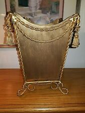 Iron Metal Gold Waste Can Wastebasket Tassels Twisted Rope Dr.Livingstone?
