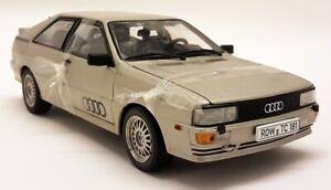 Sunstar 1/18 Scale 1981 Audi Quattro Coupe Silver Diecast Model Car PAINT FAULTS
