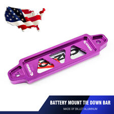 17cm Universal Car Battery Tie Down Holder Mount Bracket Brace Bar Billet Purple