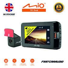 MIO - 751 DUAL 1440P 2 CHANNEL 1080P FULL HD IN CAR DASHCAM & DVR GPS + REAR CAM