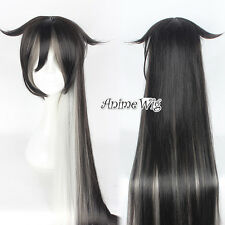 ToukenRanbu Juuzumaru Tsunets Black Mixed White Anime Cosplay Wig 150CM Long