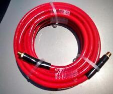 """New 25' 3/8"""" Air hose Tool Shop Compressor Hose Line 300 PSI PVC 1/4"""" NPT brass"""