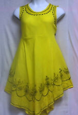 Women Clothing Sundress Summer Beach Sun Dress Yellow Free Size