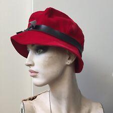 Vintage 50s MADCAPS union label Womens hat Rose velvet VTG