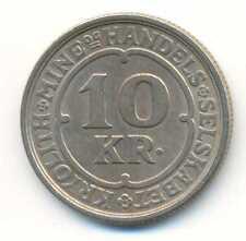 Greenland Ivigtut Cryolite Mining & Trading Company 10 Kroner 1922 XF+ SCARCE