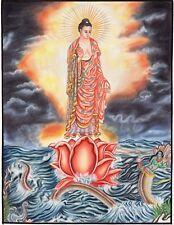 Japanese Buddha Painting Handmade Oil on Canvas Buddhist Buddhism Religion Art