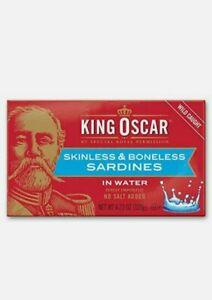 King Oscar Skinless & Boneless Sardines in Water 4.23 Ounce Pack of 12