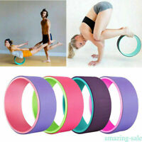 YOGA WHEEL Exercise Fitness Pilates Ring Stretch Roller Stretching Body Workout