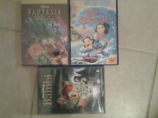 25683/LOT 3 DVD DISNEY LILO & STITCH EN TBE + FANTASIA 2000 NEUF + BAMBI NEUF