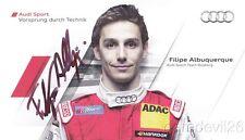 2011 Filipe Albuquerque signed Audi Racing A4 DTM postcard