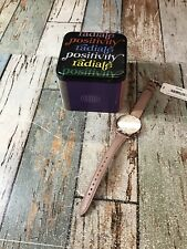 Fossil Women's Jacquelline ES3487 36mm Cream Dial Leather Watch *OPENED BOX*
