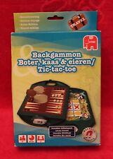 Jeu 2en1 Backgammon et Morpion (Tic-tac-toe) JUMBO - version Voyage, Travel