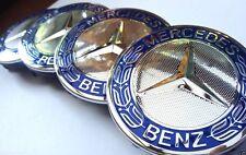 Mercedes 4x75mm Emblem Blau Felgen Kappen Nabendeckel Alufelge Radmitte