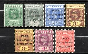 Togo nice mint no gum overprint gold coast collection,stamps as per scan(10337)
