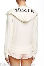 NWT New With Tags WILDFOX COUTURE Logo Hoodie BBJ Jacket Champagne Large L