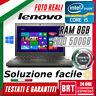 "PC NOTEBOOK LENOVO THINKPAD X240 12.5"" CPU i5 8GB RAM 500GB HDD +LICENZA WIN 10"
