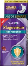 Chewable High Absorption Magnesium, Natrol, 60 tablet 250 mg
